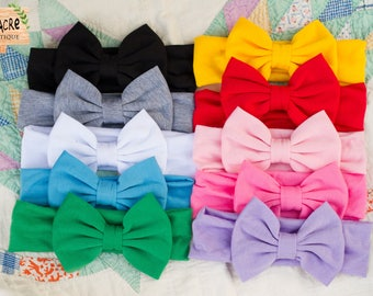 Newborn Bow Headband Baby Bow Headband Baby Girl Headband Rockabilly Baby Girl Bow Headband Cake Smash First Birthday Accessory