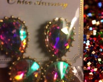 Elegant Sparkle Glam Dangle Earrings