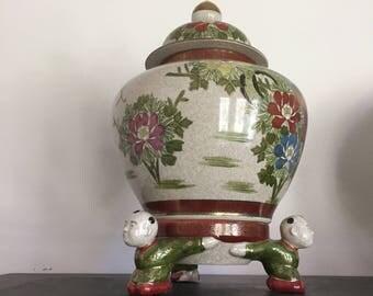 Asian Ginger Jar on pedistal