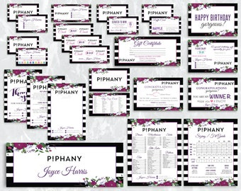 Piphany Marketing Kit, Piphany Marketing Set, Custom Piphany Package, Floral Flower, Piphany Digital Files, Printable Pịphany Marketing HN79