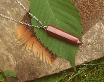 Red Jasper Necklace for Total Calm