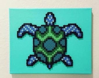 Turquoise Canvas Sea Turtle