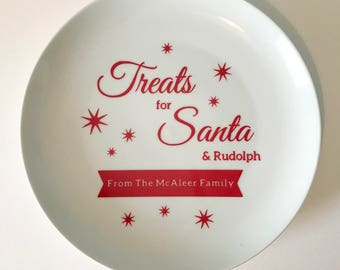 Personalised Christmas Plate, Christmas Serving Plate, Christmas Plate, Santa Plate, Personlised Santa Plate
