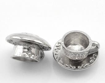 Small coffee cup-shaped charm