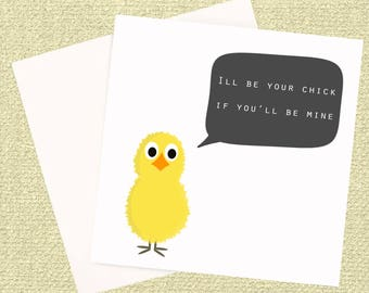Valentine's Greeting Card, Chick Card