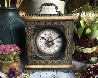 Alice in Wonderland Clock. Drink Me. Unique Clock. Victorian Clock. Alice in Wonderland Decor. Drink Me Bottle Clock. Carriage Clock. Clock.