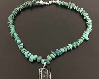 Turquoise Necklace with stone charm