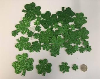 50pc Shamrock/clover sticker assorted sizes.
