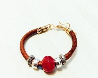 Red stone bracelet
