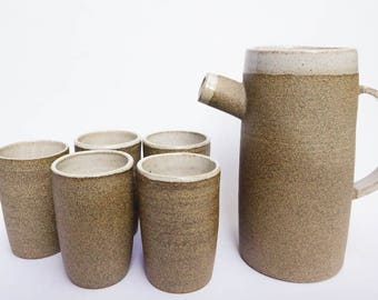 Sandy Pitcher and Cup Set
