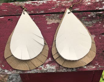 Classic Raindrop Leather Earrings