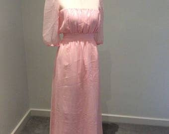 Vintage 1990's baby pink maxi dress