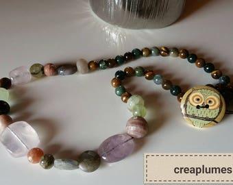New unique gemstone and semi precious necklace