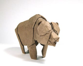 Origami Grizzly Bear