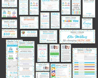 PERSONALIZED Rodan Fields Cards, Rodan and Fields Marketing Kit, Rodan Fields Marketing Bundle, R and F Marketing Package, R+F RF16