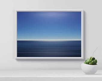 Ocean Art Print, Ocean Waves Print, Digital Print, Nature Photography, Horizon Art Print, Modern Wall Art, gift for her, Digital Download