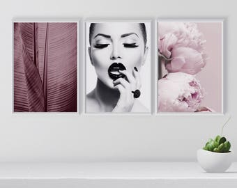 Fashion Gallery Wall Set, Set of 3 Stylish wall arts, Modern Gallery Wall Art, Fashion Posters, Art Prints Set, Living room decor, Printable