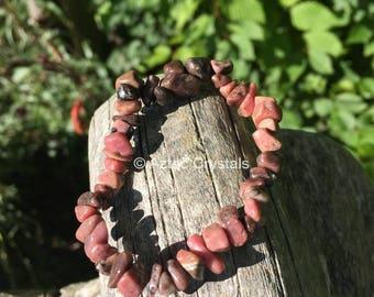 Rhodonite Reiki Crystal Bracelet