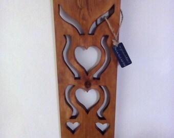 Welsh Handmade Wooden Lovespoon