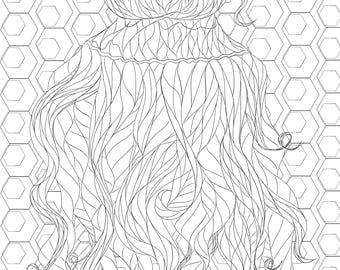 Hairstyle Coloring Page