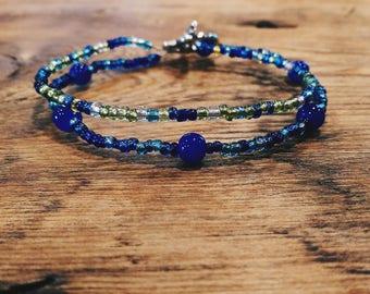 Two-Strand Sea Glass Bracelet