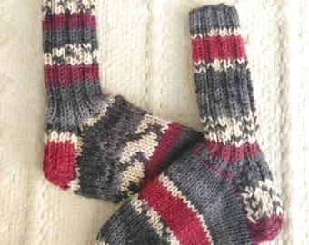 Hand knit children's socks