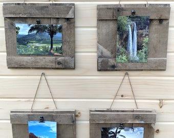 Reclaimed Handmade wood picture hanger