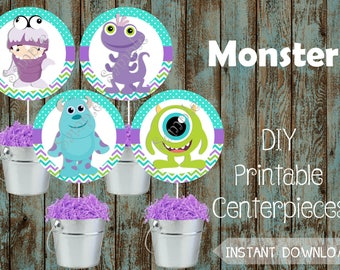 Monsters Centerpieces, Monsters Decorations, Monsters Birthday, Monsters Party, Monsters Party Supplies, Monsters Baby Shower Decorations