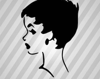 Lady Vintage Silhouette Woman - Svg Dxf Eps Silhouette Rld RDWorks Pdf Png AI Files Digital Cut Vector File Svg File Cricut Laser Cut