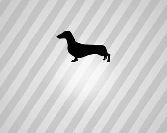 sausage dog Silhouette - Svg Dxf Eps Silhouette Rld RDWorks Pdf Png AI Files Digital Cut Vector File Svg File Cricut Laser Cut