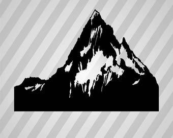 Mountain Silhouette Mountains - Svg Dxf Eps Silhouette Rld RDWorks Pdf Png AI Files Digital Cut Vector File Svg File Cricut Laser Cut