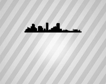 denver skyline Silhouette - Svg Dxf Eps Silhouette Rld RDWorks Pdf Png AI Files Digital Cut Vector File Svg File Cricut Laser Cut