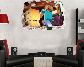 1 Large Minecraft 3D Wall Decal 19x27 Part 84