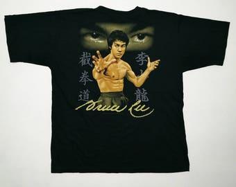 Swagg!! Vintage 90s Bruce Lee Shirt US XL / EU 56 / 4