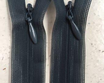 Teal 60cm Invisible Zipper