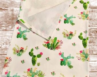 Cactus Succulent Print Swaddle Blanket//Organic Cotton Swaddle/Muslin Swaddle