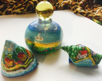 Hand painted rocks and shells