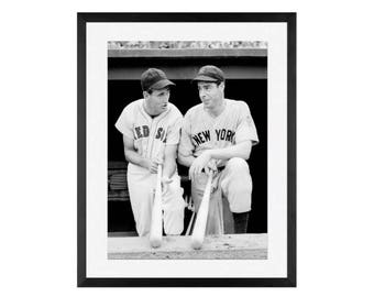 Ted Williams (left) and Joe DiMaggio, baseball greatest, Yankees, Red Sox, New york  Yankees, Boston Red Sox, Sox