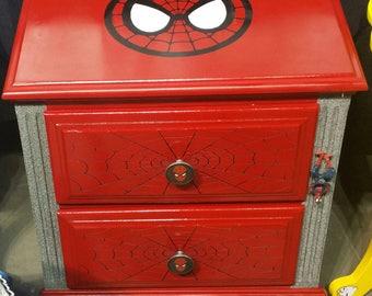 Custom Spiderman nightstand dresser