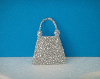 Cut for scrapbooking and card silver evening bag
