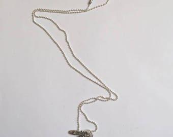 "Pendant and necklace mesh ball cabochon ""Ballet dancer"""