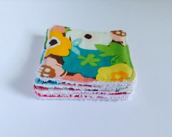 Set of 5 wipes Terry and cotton