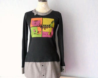 Shirt / tunic, longsleeves, women size M - 42