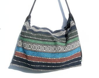 Ethnic fabric Messenger bag.