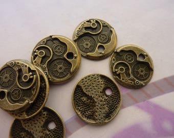 1 pendant charm watch mechanism bronze 22 mm