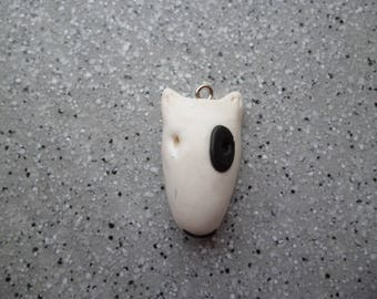 1 dog charm in polymer clay handmade without mold 25 mm approx