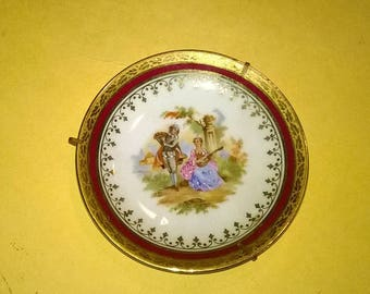 215) small porcelain plate from Limoges France