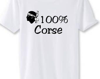 Man white t-shirt 100% Corsica
