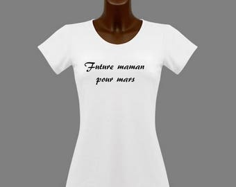 White message women MOM t-shirt for... months in the choice