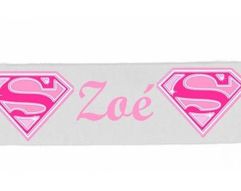 White girl Supergirl personalized with name banner